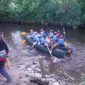 Kayaks tied together
